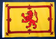 "SCOTLAND LION - SMALL BUDGET FLAG 9"" X 6"""